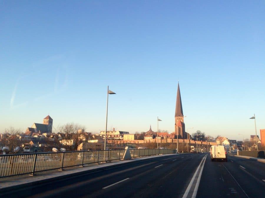 Taxi Rostock eiskalter Morgen