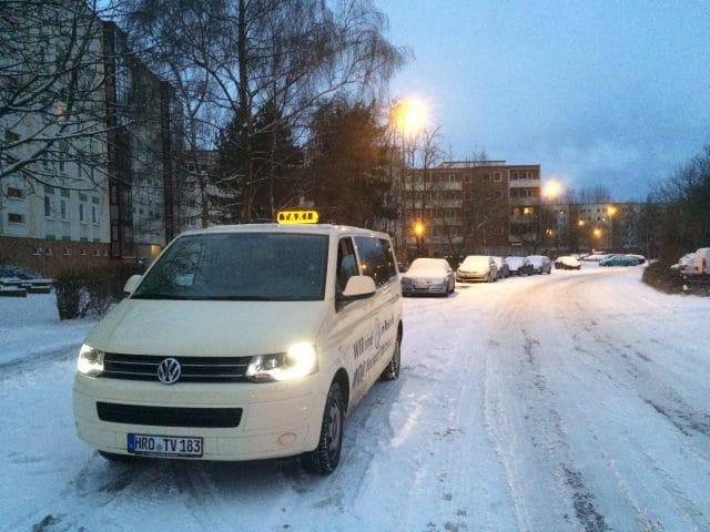 Taxi Rostock Eistanz auf der Piste