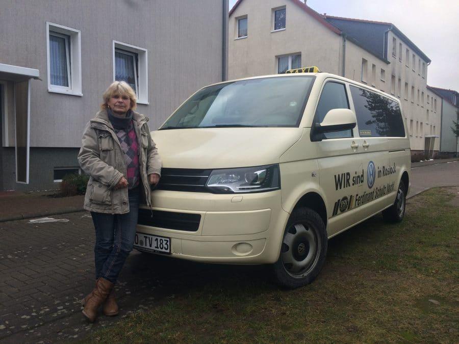 Taxi Rostock Fahrt mit Angela nach Hause