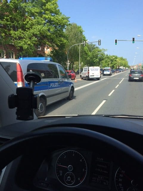 Taxi Rostock Unfall Hamburger Strasse in Rostock Bild 1