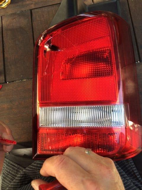 Taxi Rostock Schlussleuchte vom Bulli kaputt