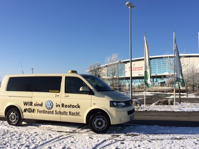 Taxi Rostock Tour nach Rostock Laage bei minus 8 Grad Bild 1
