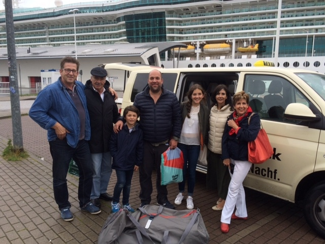 Taxi Rostock mit Mexikanern unterwegs