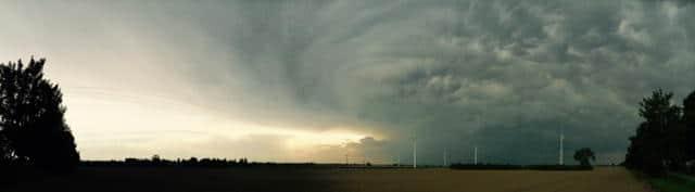 Taxi Rostock Wetter vor dem Unwetter