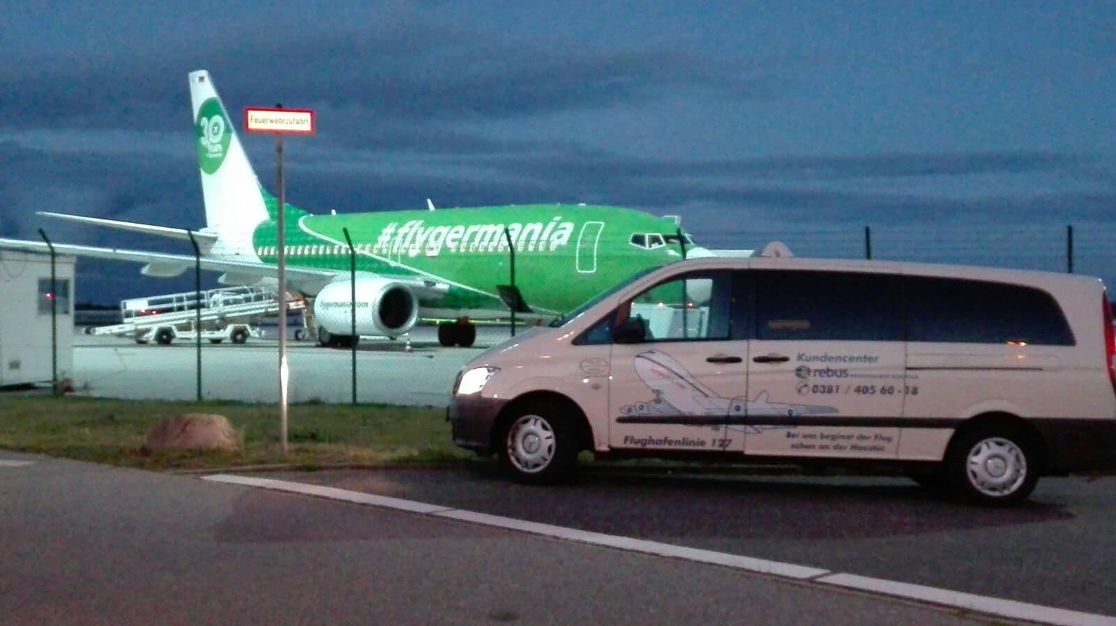 Taxi Rostock Tour zum Flughafen Laage