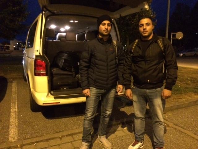 Taxi Rostock Umzug von zwei Syrern