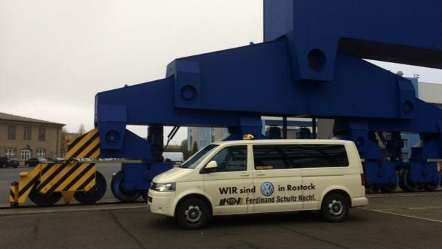 Taxi Rostock in der Warnow Werft