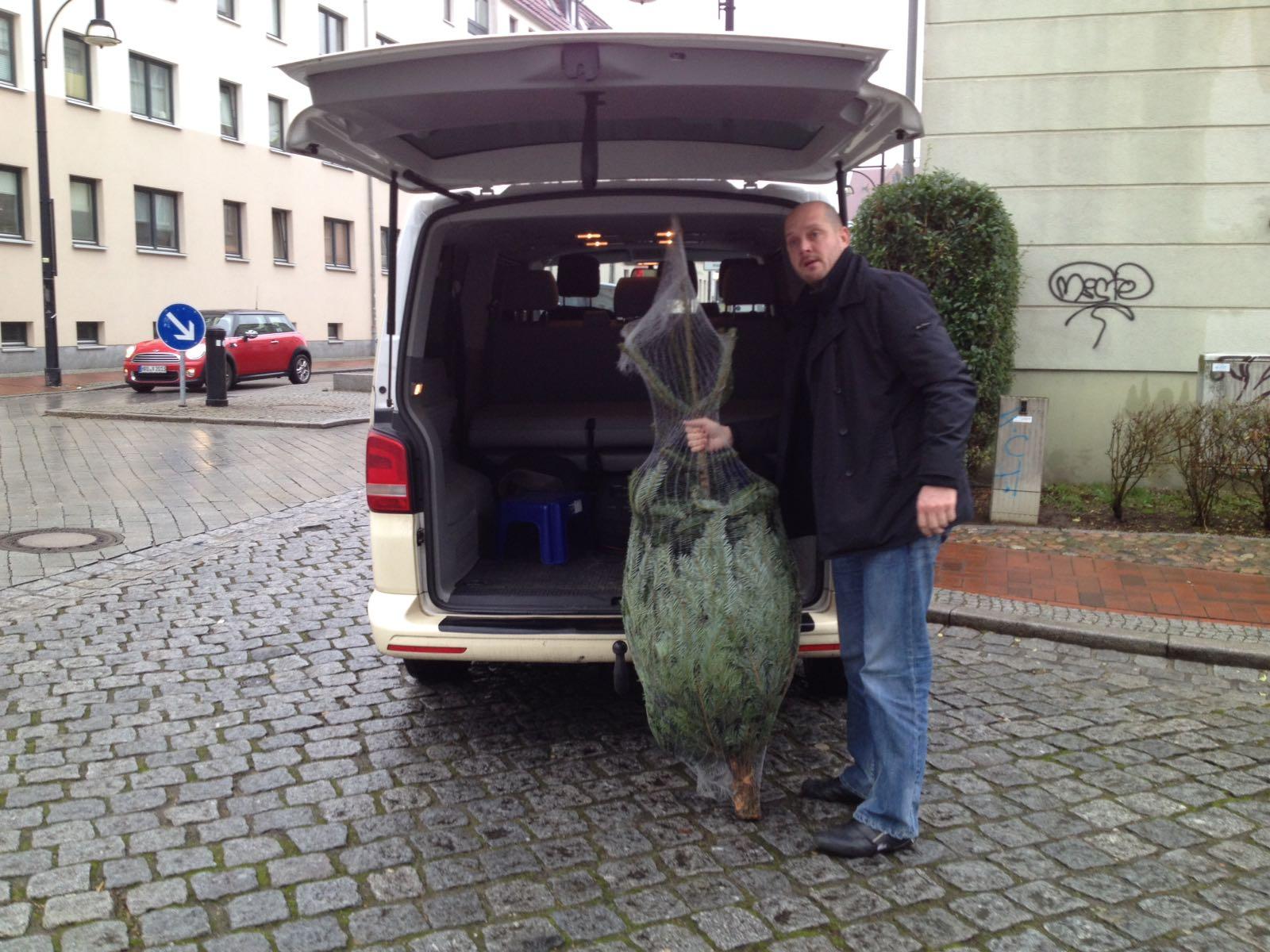 Taxi Rostock Hilfe beim Tannenbaumkauf