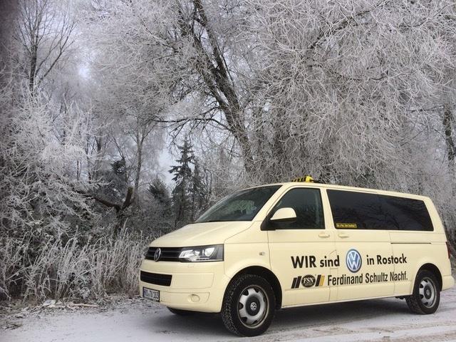 Taxi Rostock Winter Impressionen Bild 1