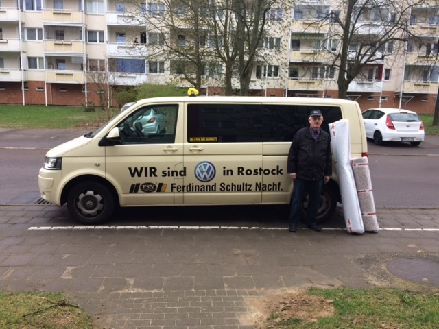 Taxi Rostock Transport von einem Teppich