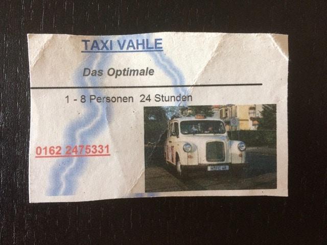 Taxi Rostock eine alte Visitenkarte Bild 1