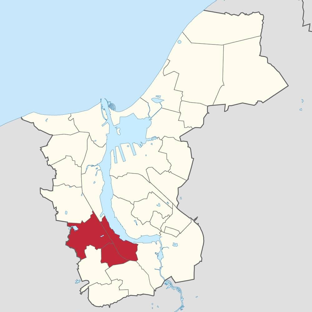 Stadtgebiet - West