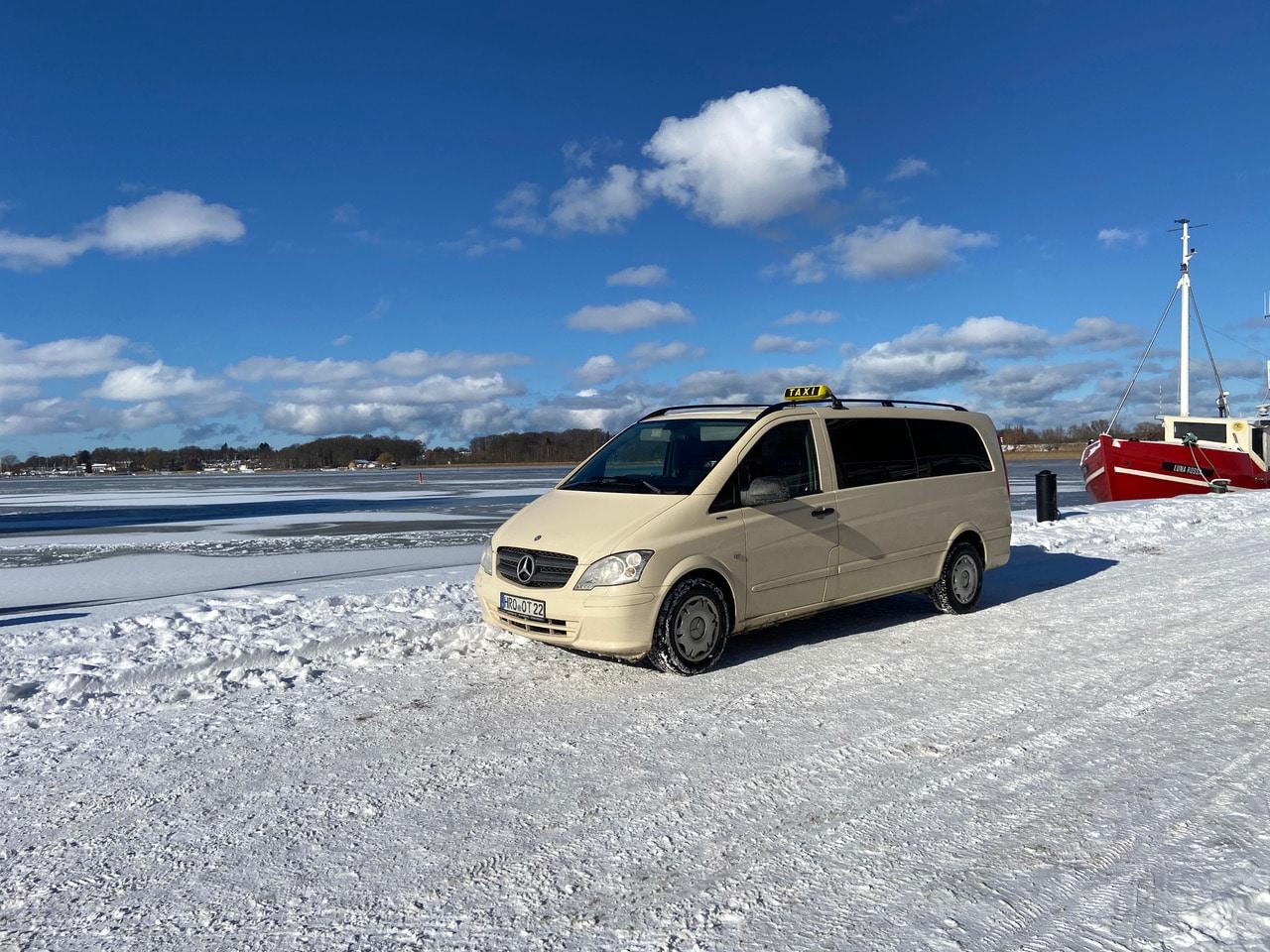 Taxi Rostock – Stadthafen im Schnee